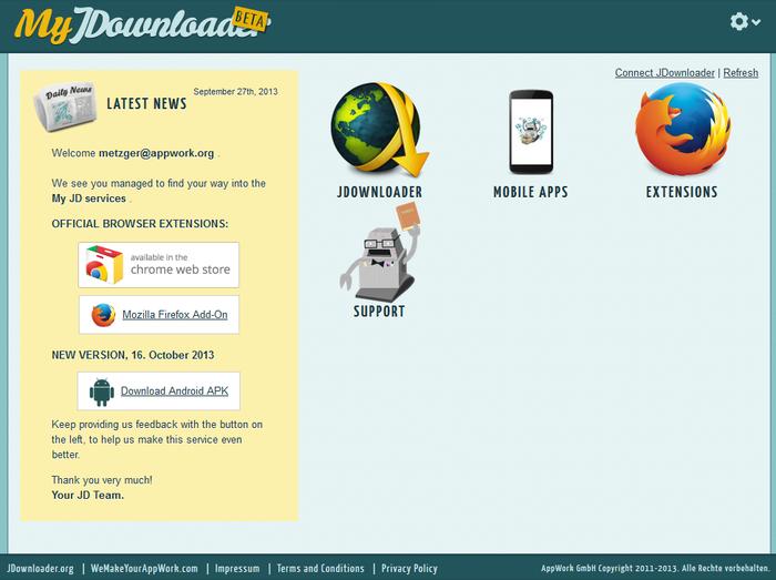 Jdownloader: remote pour gérer vos téléchargements - Chinandroid