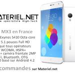Meizu en France, Meizu MX3 sur Materiel.net
