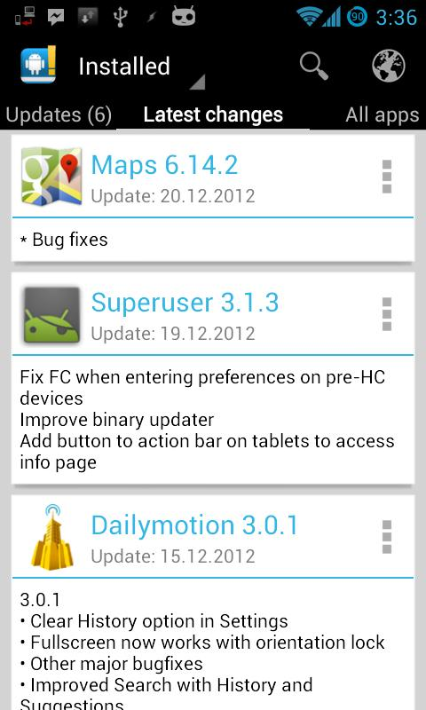 ChangelogDroid-changelog update free apps