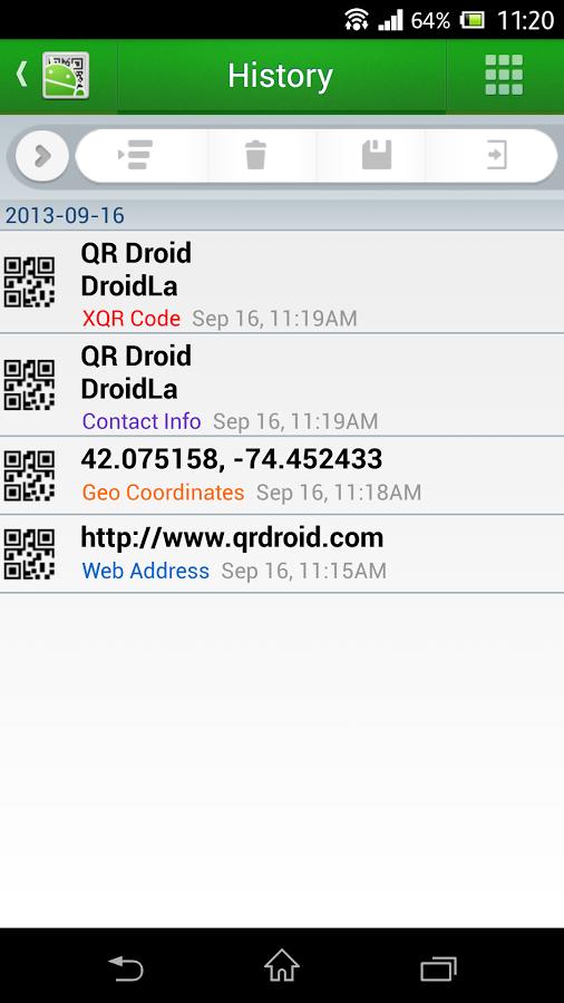 QR Droid-History