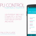 CPU Control : un air de MATERIAL DESIGN