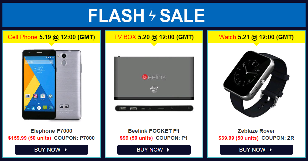 Ventes flash gearbest les 19 20 et 21 mai chinandroid - Ventes flash marmara ...