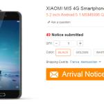 Stock Xiaomi Mi5 et stock Xiaomi Redmi 3