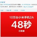 Xiaomi Mi-2A en vente aujourd'hui