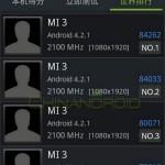 Xiaomi Mi3 5 pouces 1080p Snapdragon 800 2.1GHz