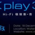 Sortie Vivo Xplay 3S annoncée le 18 décembre à Pékin