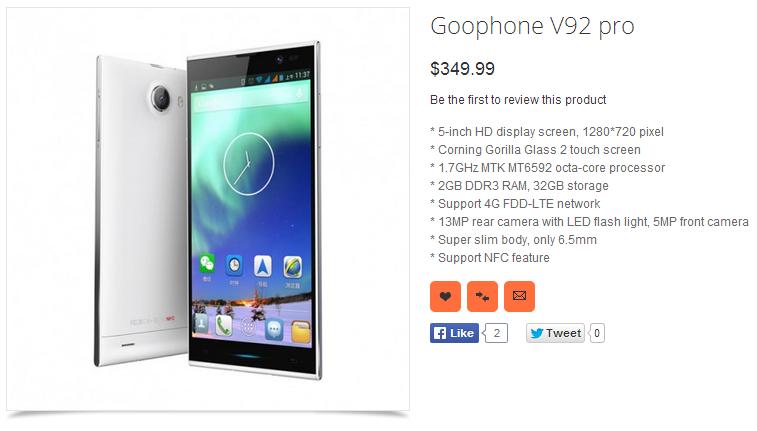 GooPhone V92 Pro MT6592