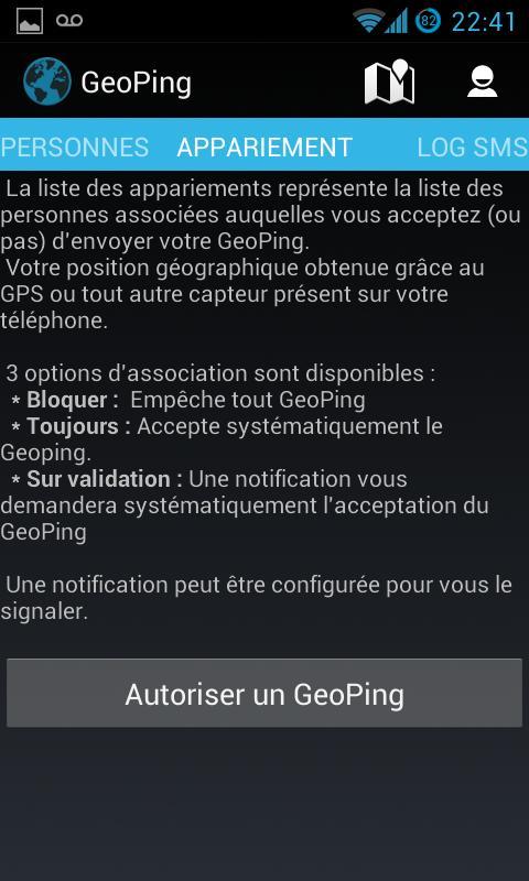 GeoPing-Appariement