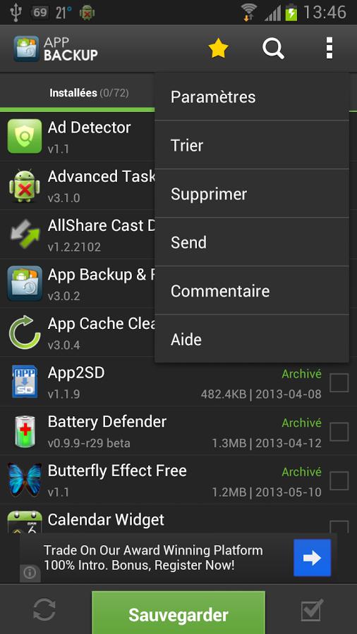 App Backup & Restore-Holo UI
