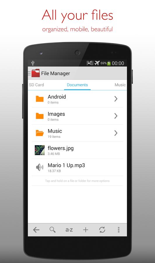 Gestionnaire de fichiers free apps