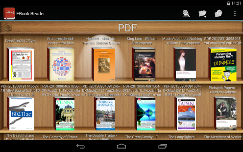 Ebook Reader-Interface Tablette free apps