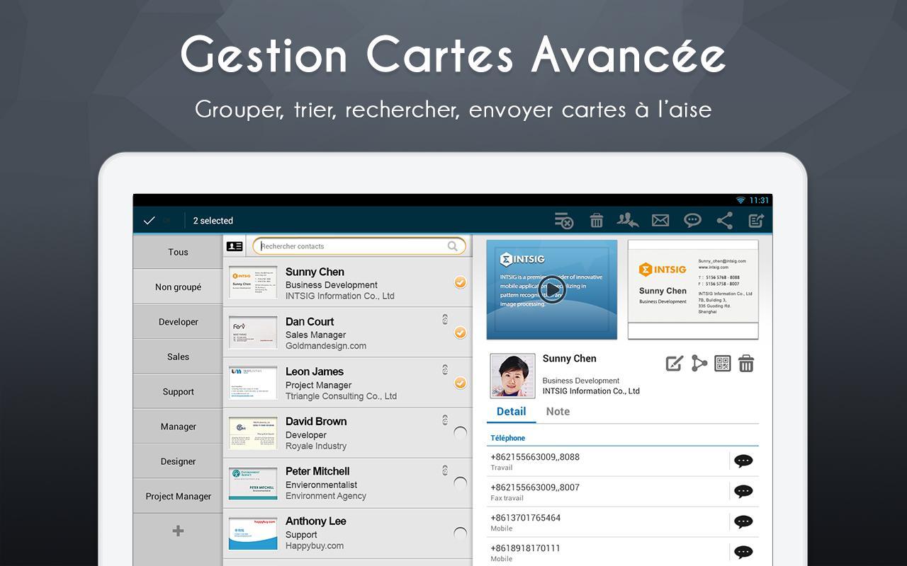 CamCard Lite-Géstion de cartesfree apps