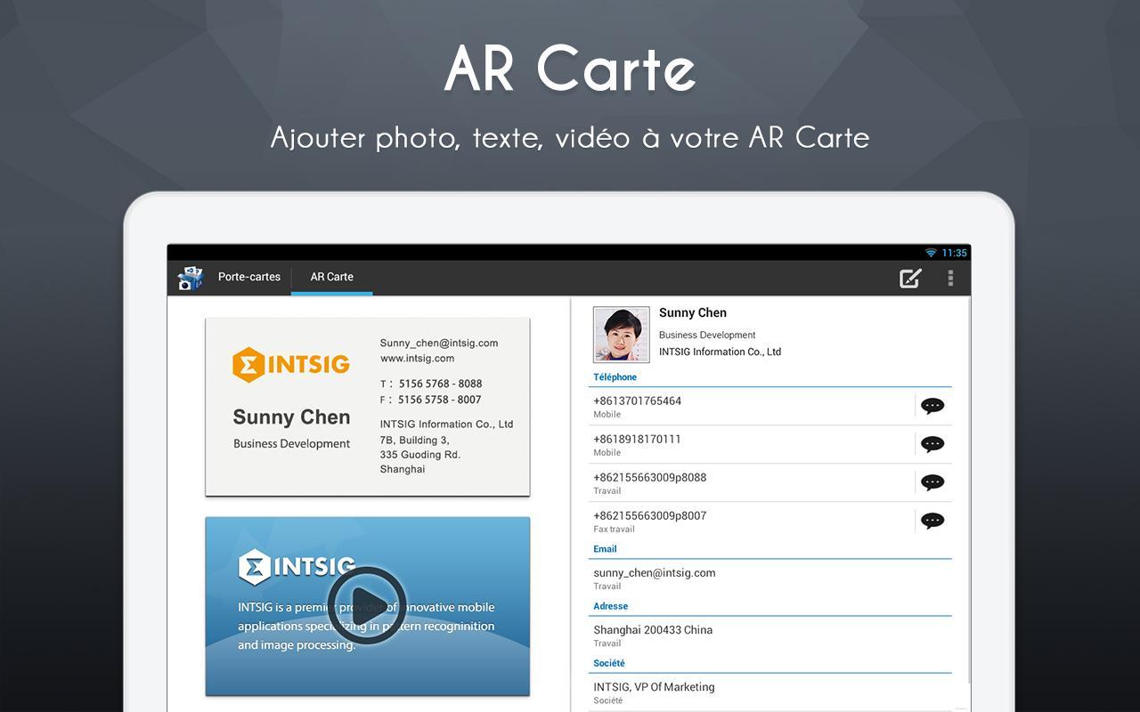 CamCard Lite - AR Carte - free apps