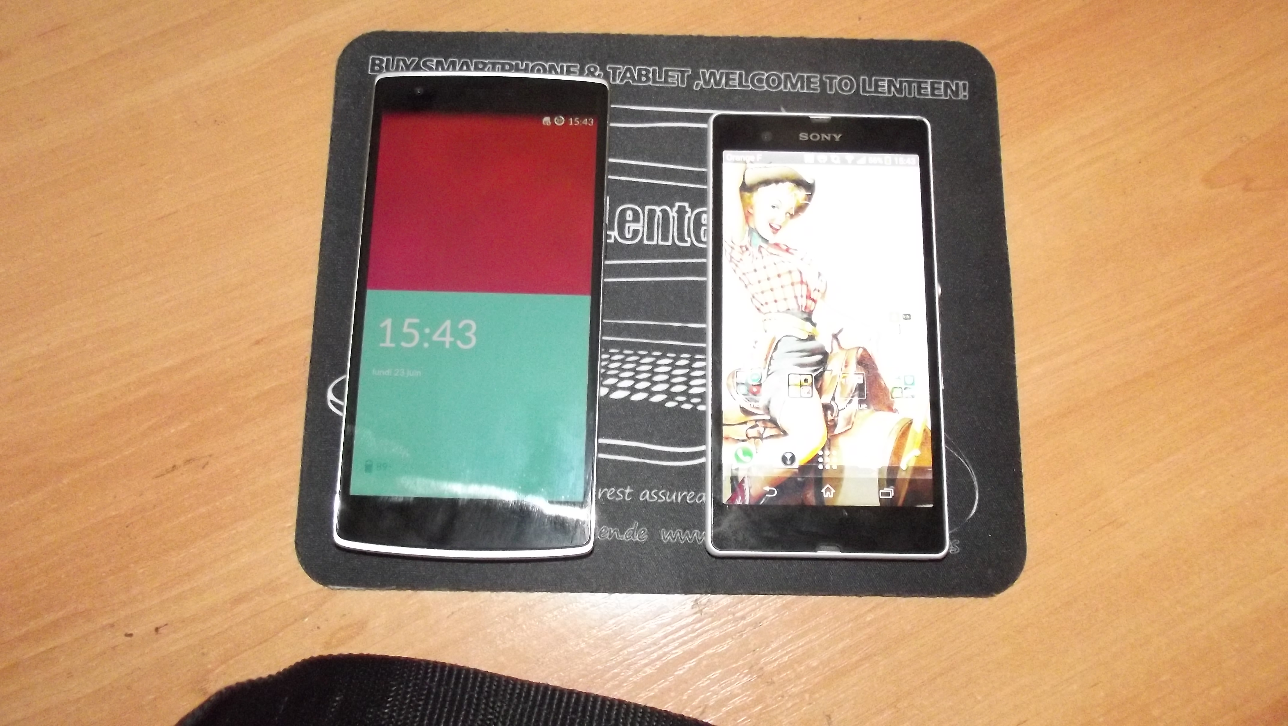 OnePlus One VS Sony Xperia Z en photo
