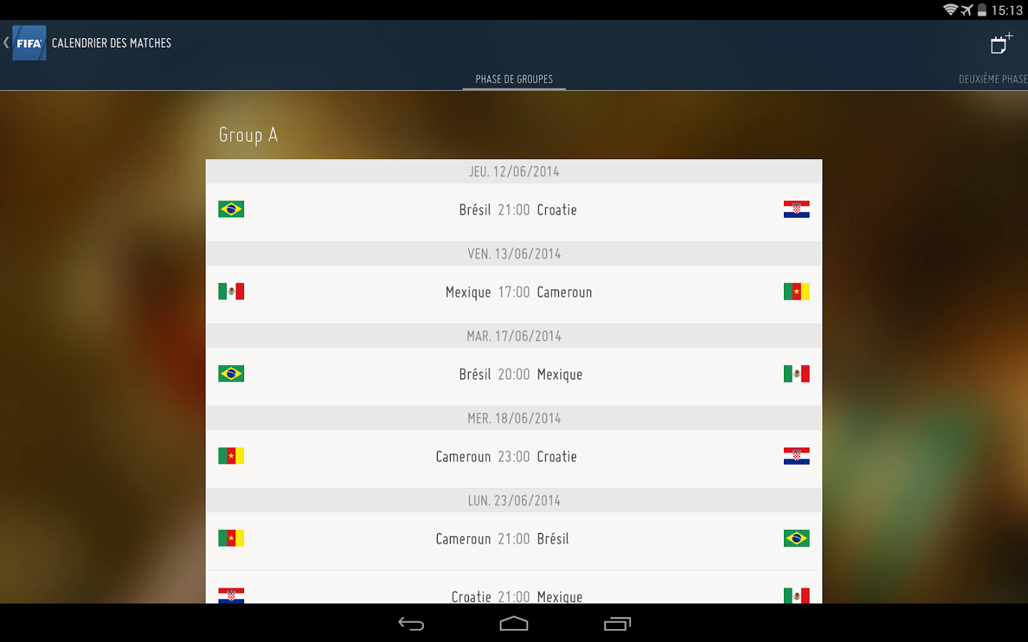 FIFA-Calendrier free apps