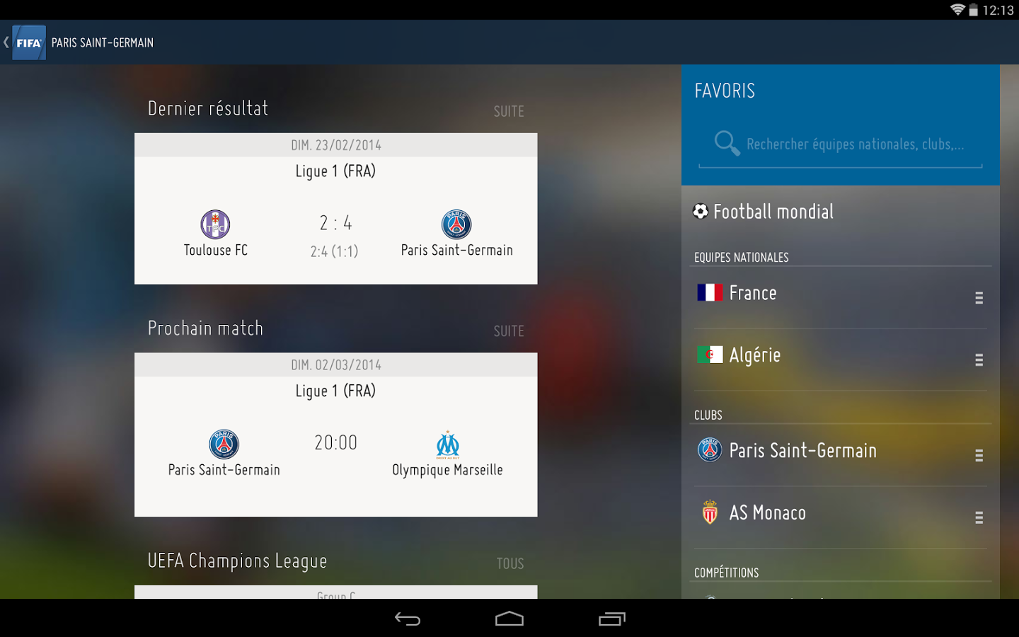 FIFA-Tablette free apps