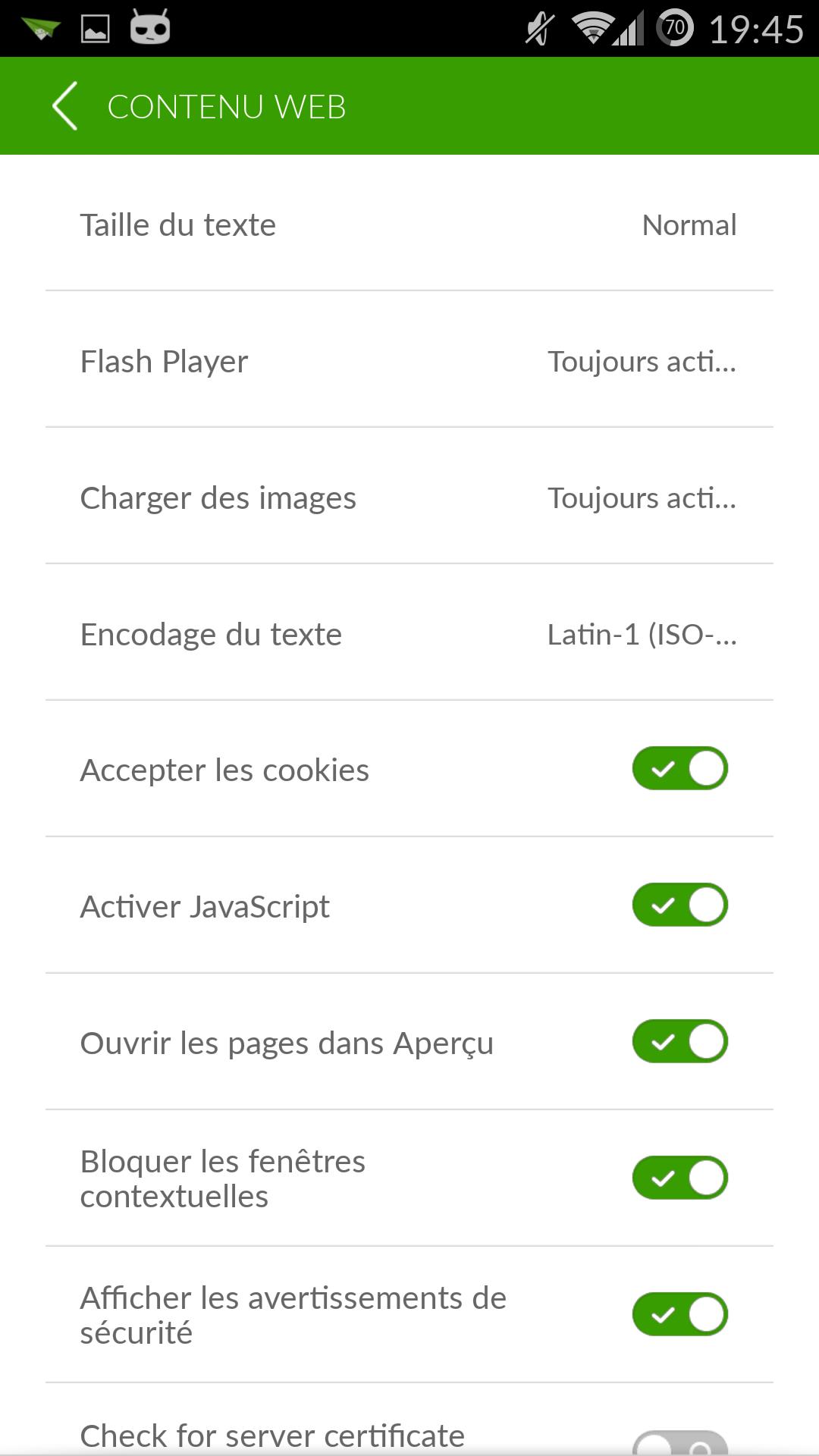 Flash Player Activé