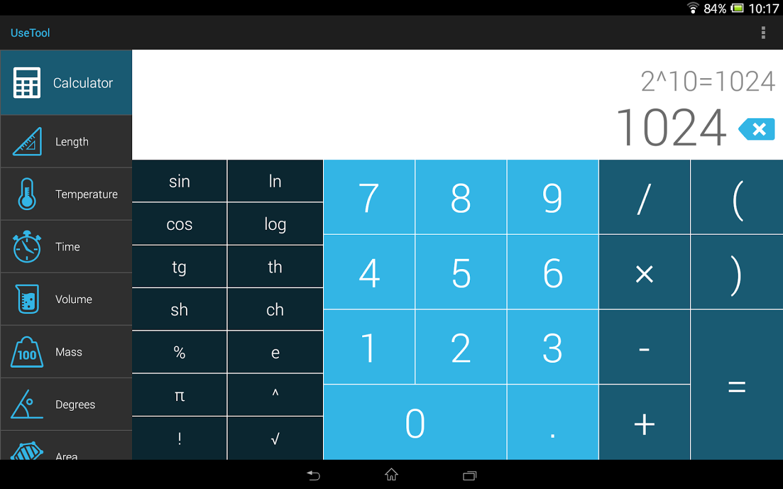 UseTool Converter & Calculator-tablette