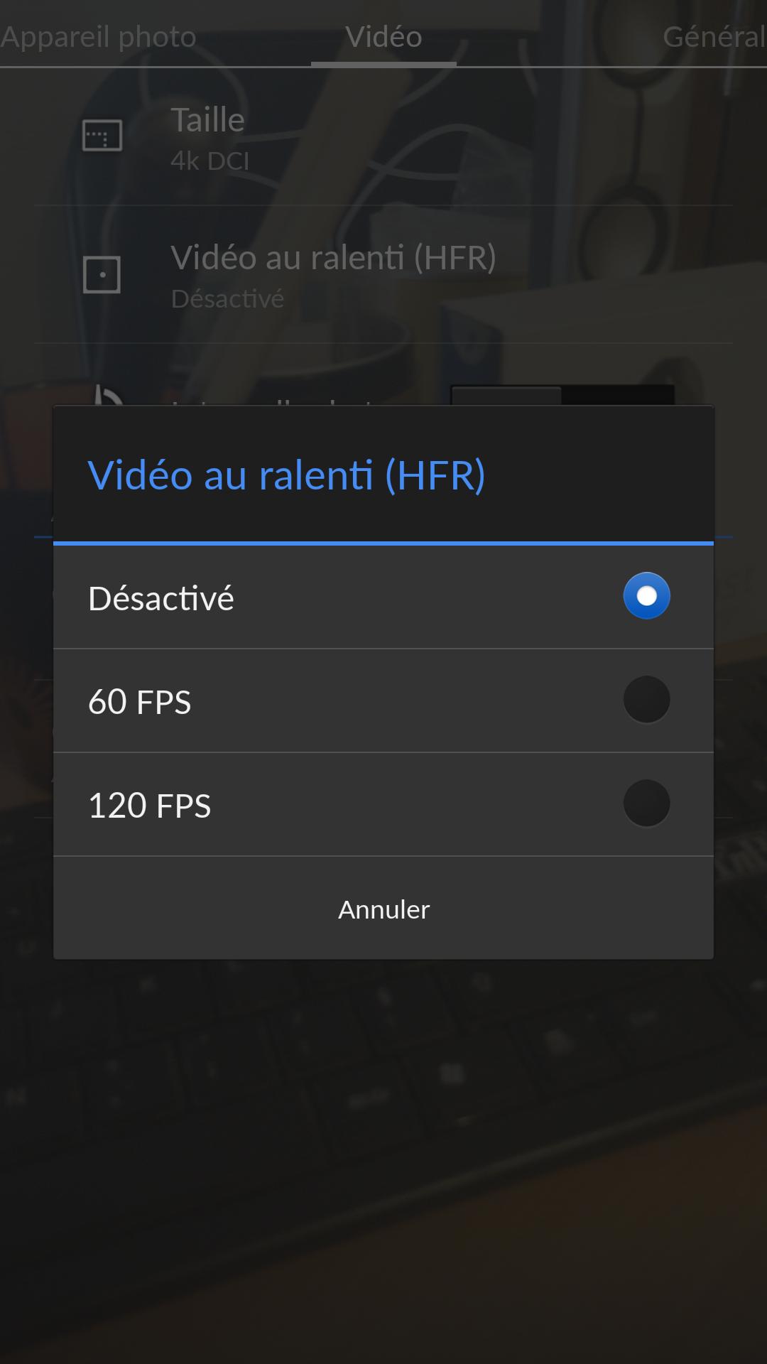 vidéo - HFR