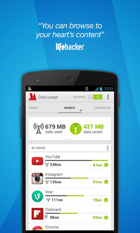 Opera Max beta - Data manager - Conso data par  application free