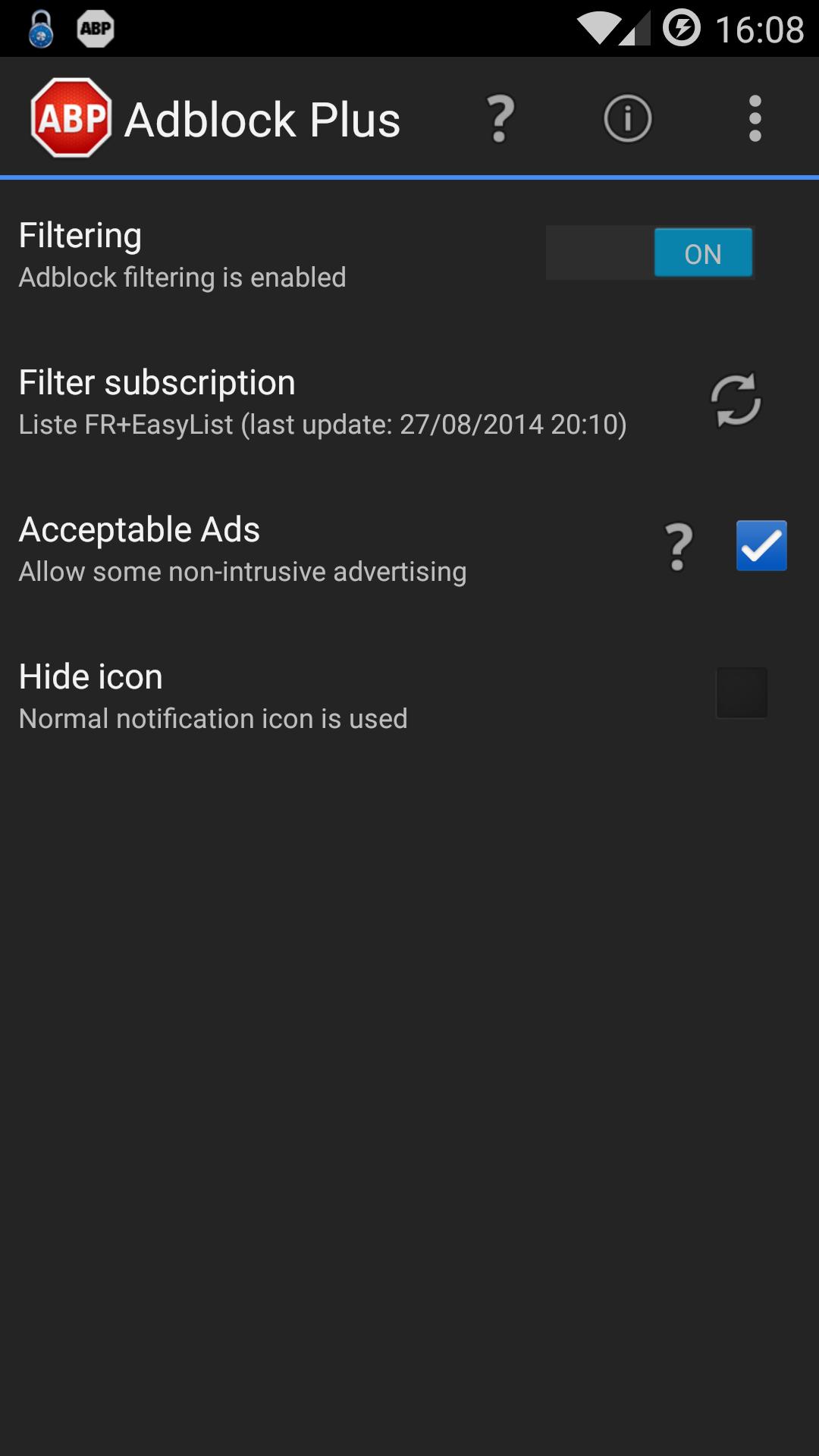 Adblock Plus - Menu Principal free apps