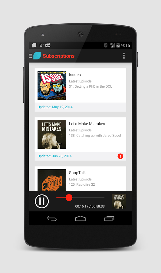 SuperCasts Pro Podcast Player-subscription