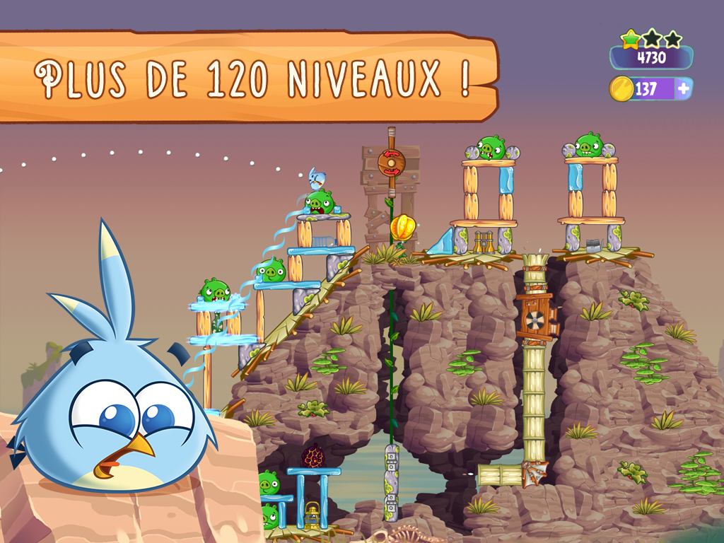 Angry Birds Stella - 120 niveaux