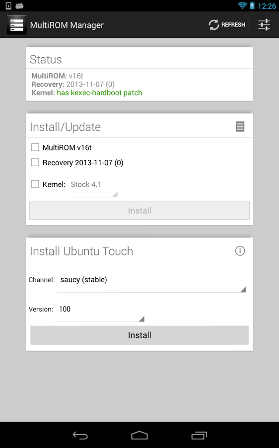 MultiROM Manager - install composant