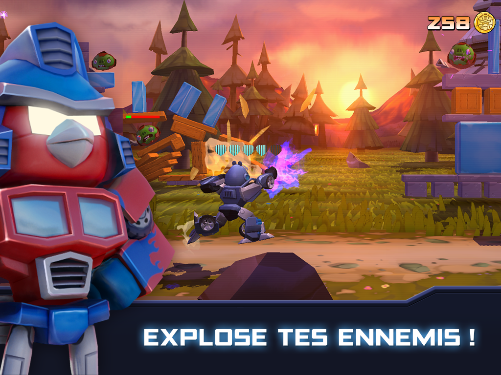 Angry Birds Transformers - explosez vos ennemis