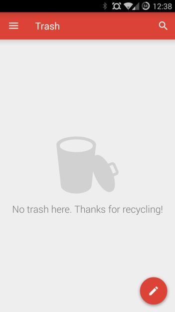 Gmail 5.0 - trash