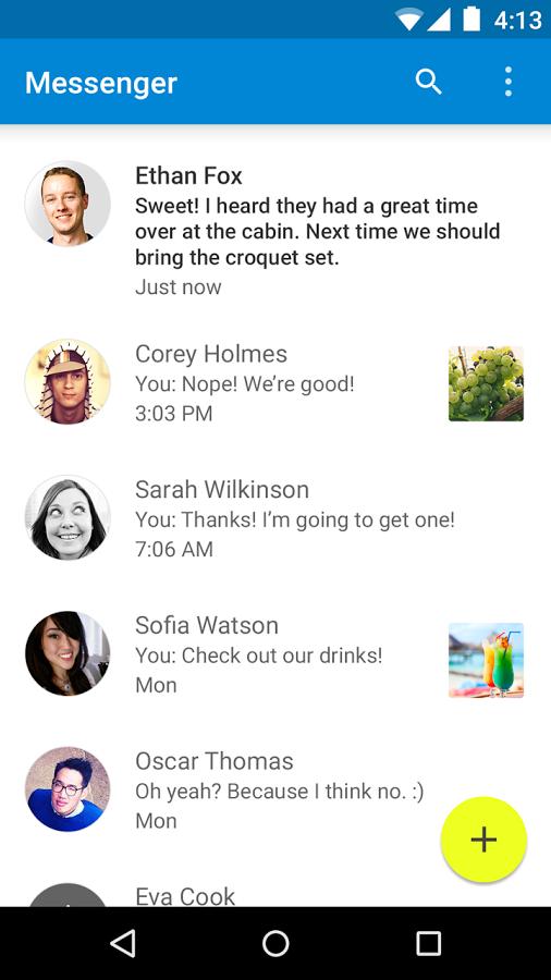 Messenger - interface