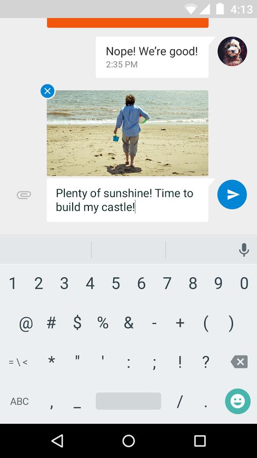 Messenger - photo transmise