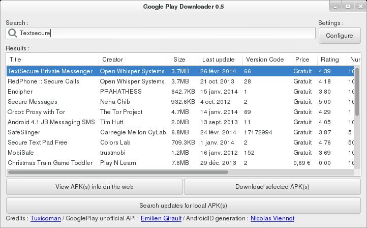 Google Play Downloader
