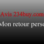 Avis 234buy.com : mon retour