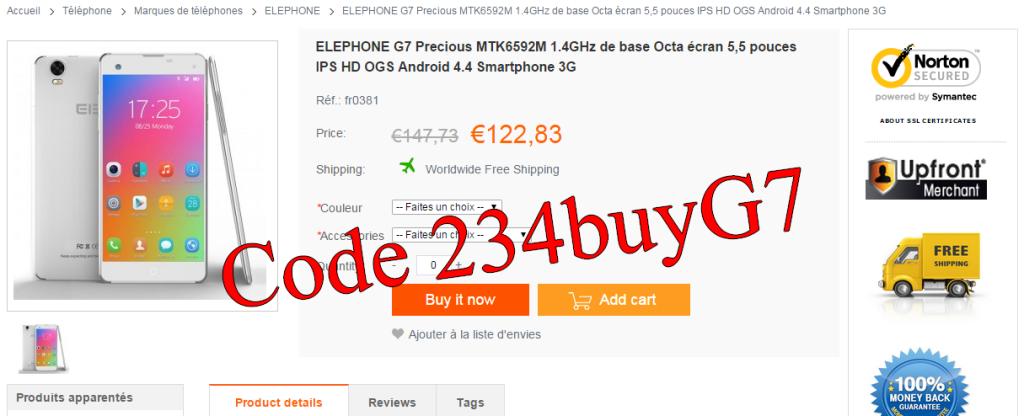 Promotion Elephone G7
