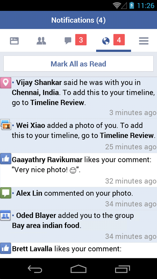 Facebook Lite - Notifications