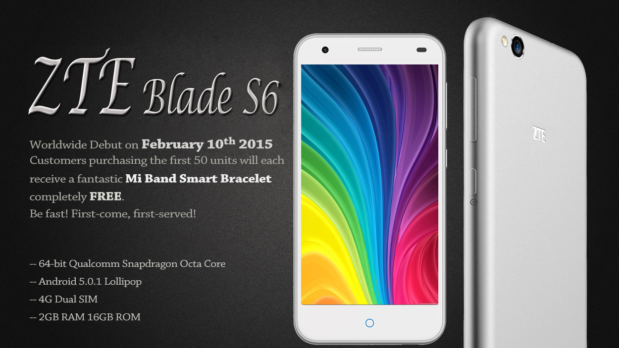 Promo ZTE Blade S6 - MI Band