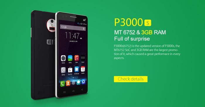 Elephone P3000S 3Go Ram