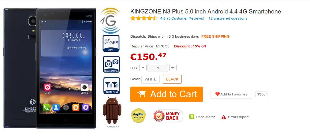 Kingzone N3 Plus - www.gearbest.com