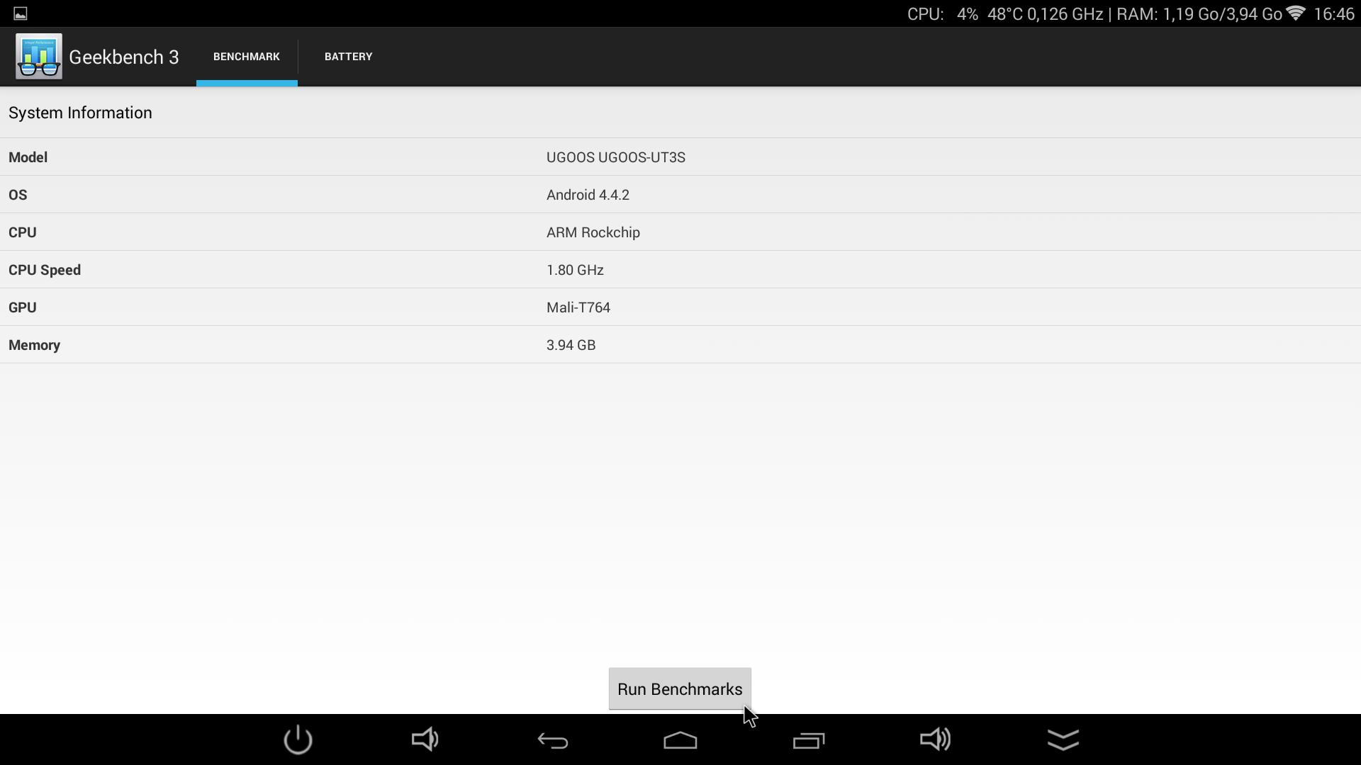 UGOOS UT3S - GeekBench3 1.8ghz