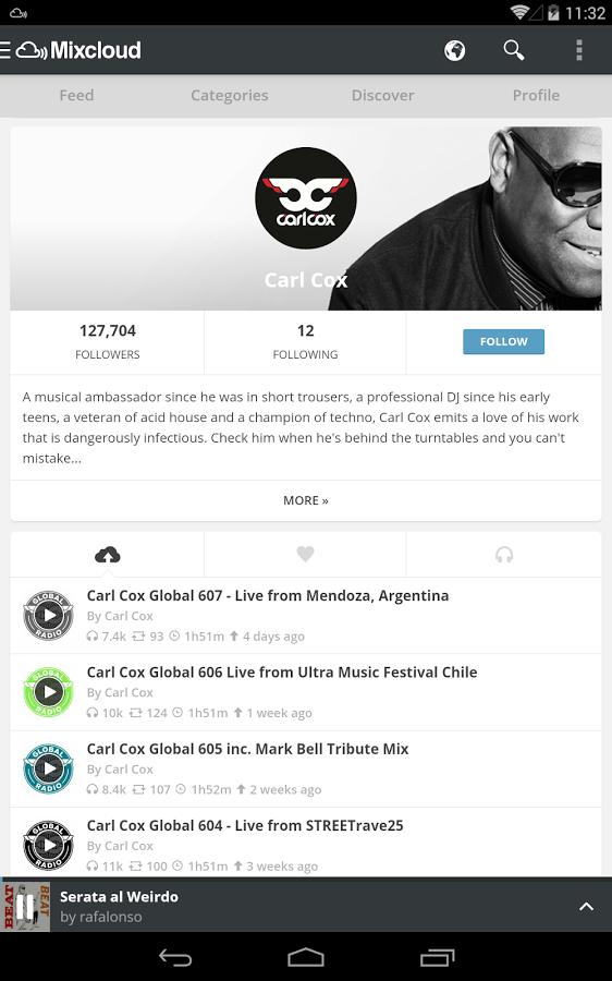 Mixcloud - Follow