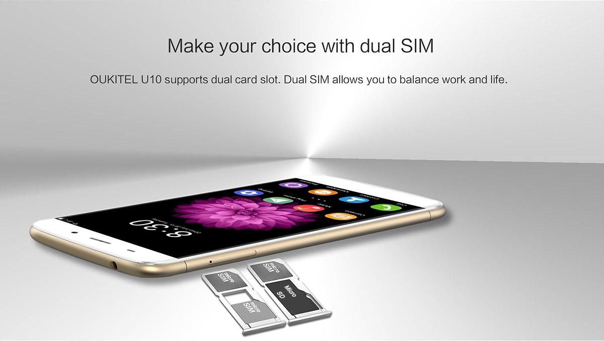 Oukitel U10 - Dual Sim Dual Micro SD
