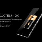 OUKITEL K4000 : batterie 4000mAh