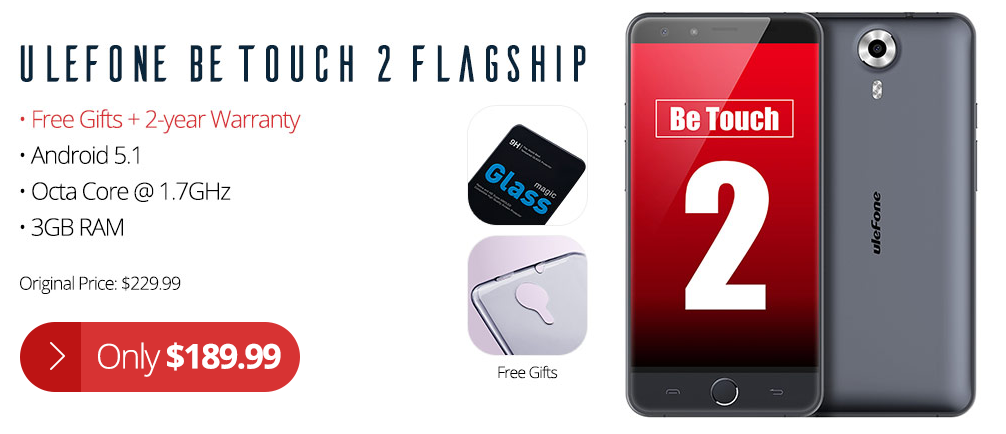 Promotion Ulefone Be Touch 2
