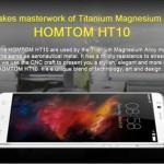 Homtom HT10 : châssis magnésium et titane