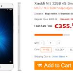 Vente flash Xiaomi Mi5 à 355 euro