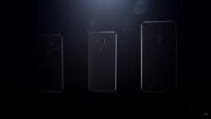 Les 3 modèles de smartphones (capture de la vidéo)
