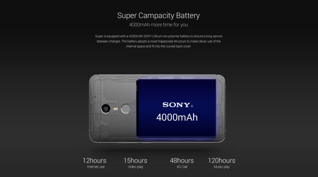 UMI Super - batterie Sony 4000mAh