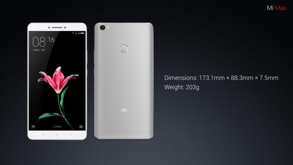 Xiaomi Mi Max - dimensions
