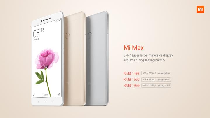 Xiaomi Mi Max - prix